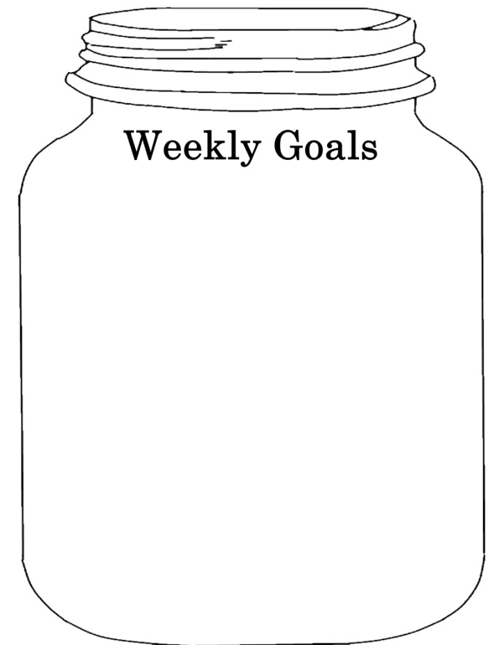 Mason Jar Goals Sheet