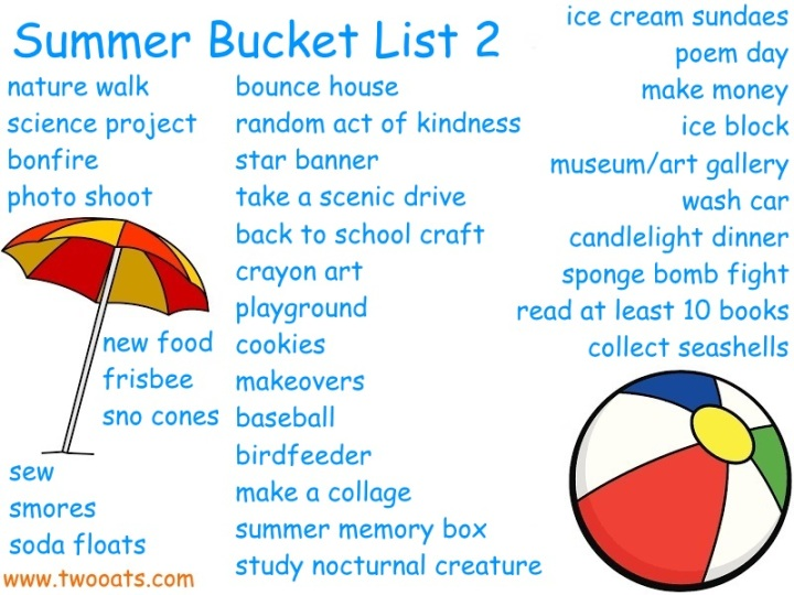Summer bucket list 2